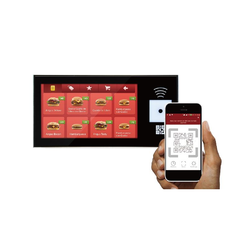 QR Code and NFC Payment Panel with 8 Inches Touch Screen